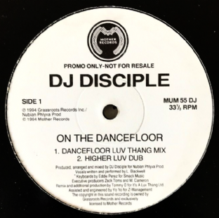 "DJ Disciple - On The Dancefloor (12"") (Promo) (VG/NM)"
